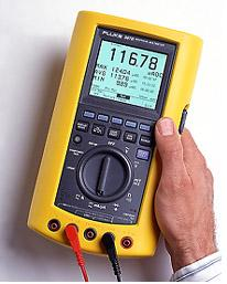 FLUKE 867B, Handheld, Graphical Multimeter displays trend graphing and waveform display, componet testing, and logic checking.